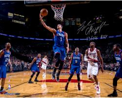 Michael Carter-Williams Philadelphia 76ers Autographed 16'' x 20'' Photograph with 13/14 ROY Inscription - Mounted Memories