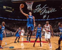 Michael Carter-Williams Philadelphia 76ers Autographed 8'' x 10'' Layup vs. Portland Trail Blazers Photograph - Mounted Memories