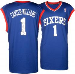 Michael Carter-Williams Philadelphia 76ers Autographed adidas Replica Blue Jersey - Mounted Memories
