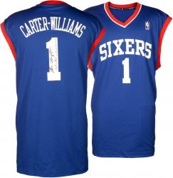 Michael Carter-Williams Philadelphia 76ers Autographed adidas Replica Blue Jersey with Multiple Inscriptions - Mounted Memories