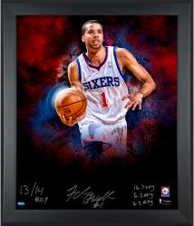 Michael Carter-Williams Philadelphia 76ers Framed Autographed 20'' x 24'' Photograph with Multiple Inscriptions-#1 of a Limited Edition of 24 - Mounted Memories