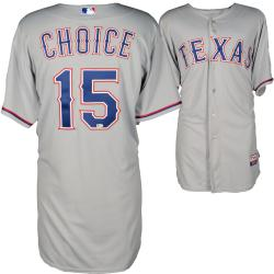 Michael Choice Texas Rangers Game Used Grey Jersey 5/4/14 vs Los Angeles Angels of Anaheim