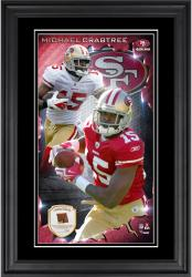 Michael Crabtree San Francisco 49ers 10'' x 18'' Vertical Framed Photograph with Piece of Game-Used Football - Limited Edition of 250