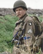 """MICHAEL CUDLITZ as DENVER (BULL) RANDLEMAN in TV Series """"BAND of BROTHERS"""" Signed 8x10 Color Photo"""