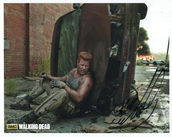 MICHAEL CUDLITZ HAND SIGNED 8x10 PHOTO+COA      ABRAHAM FROM THE WALKING DEAD