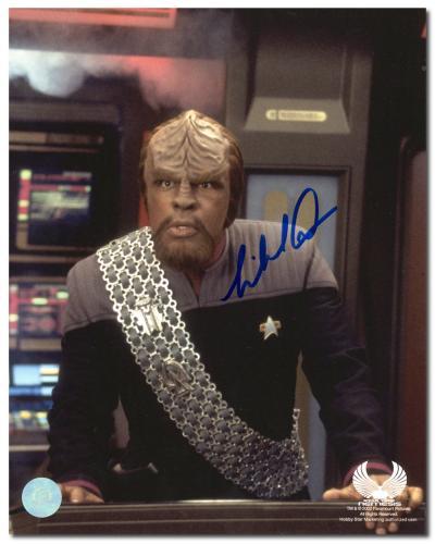 Michael Dorn Autographed Worf Star Trek TNG 8x10 Photo