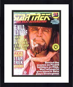 Michael Dorn Signed Autographed Magazine Star Trek TNG Worf JSA QQ36882