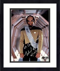 Michael Dorn Signed & Inscribed Star Trek The Next Generation Worf 8x10 Photo