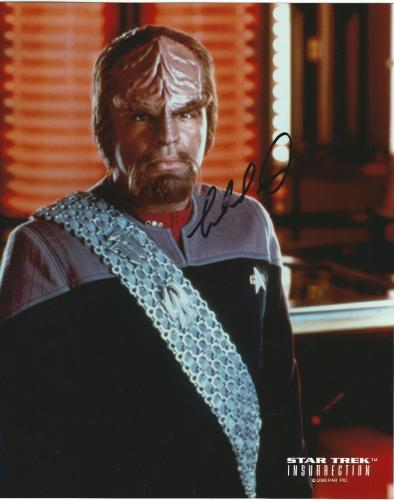 Michael Dorn Signed Star Trek Insurrection Commander Worf 8x10 Photo