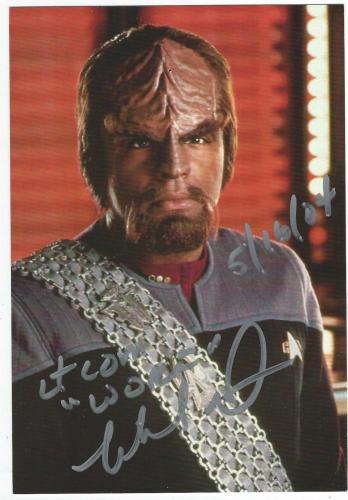Michael Dorn Signed Star Trek The Next Generation Postcard Lt. Commander Worf