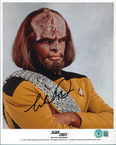Michael Dorn Star Trek The Next Generation Signed 8x10 Photo BAS #BB83009