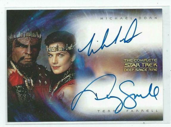 Michael Dorn & Terry Farrell Star Trek Deep Space Nine Autograph Card