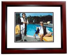 Michael Douglas and Matt Damon Signed - Autographed Behind the Candelabra 8x10 Photo MAHOGANY CUSTOM FRAME - Liberace