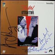 Michael Douglas & Glenn Close Signed Laserdisc Cover PSA/DNA #J00732