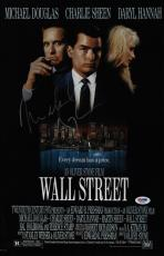 Michael Douglas Signed Wall Street 11x17 Movie Poster Psa Coa Ad48140