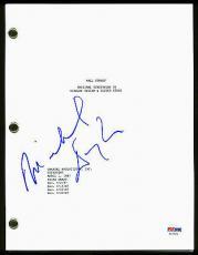 Michael Douglas Wall Street Signed Script Autographed PSA/DNA #AC17072