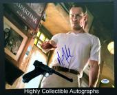 Michael Fassbender Signed 11x14 Photo Autograph Psa Dna Coa Magneto X-men