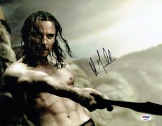 Michael Fassbender Signed 300 Authentic Autographed 11x14 Photo PSA/DNA #AA95983