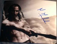 "Michael Fassbender Signed Autograph ""300"" Sword Photo"