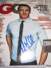 MICHAEL FASSBENDER SIGNED AUTOGRAPH 8x10 PHOTO GQ PROMO SEXY HUNK COUNSELOR G