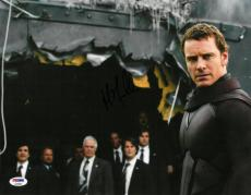 Michael Fassbender Signed X-Men Autographed 11x14 Photo PSA/DNA #AA95984