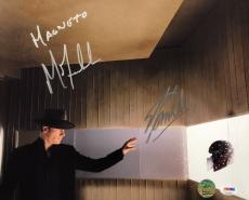 Michael Fassbender & Stan Lee Signed Magneto 11x14 Photo BAS/Lee Hologram