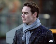 Michael Fassbender X-men Signed 11x14 Photo Psa/dna #s33583