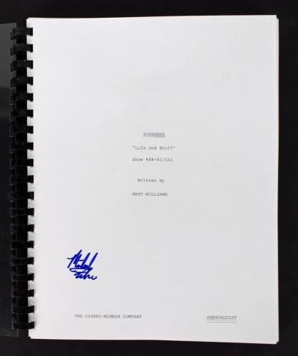 Michael Fishman Signed Roseanne TV Pilot Script Autographed BAS D05886