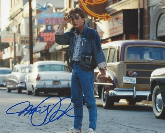 "MICHAEL J. FOX as MARTY MCFLY in ""BACK TO THE FUTURE"" Signed 10x8 Color Photo"