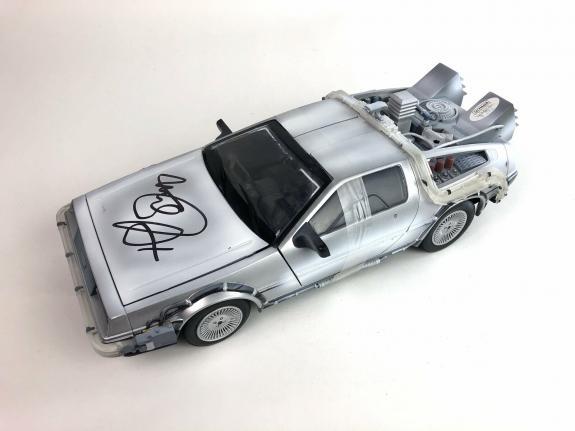 Michael J. Fox Autograph Back to the Future Delorean 1:15 Diecast JSA COA - A8