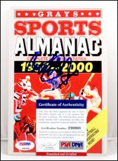 Michael J. Fox Autograph Signed Back To The Future Grays Sports Almanac Psa Coa