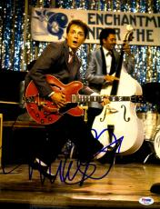 "Michael J Fox Autographed 11"" x 14"" Back To The Future Playing Guitar Photograph - PSA/DNA COA"