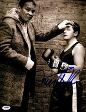 "Michael J Fox Autographed 11"" x 14"" Posing With Muhammed Ali Photograph - PSA/DNA COA"