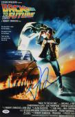 """Michael J Fox Autographed 11"""" x 17"""" Back To The Future  Movie Poster- PSA/DNACOA"""