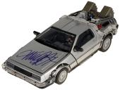 Michael J Fox Autographed 1/15th Scale Time Machine Back To The Future - PSA/DNA COA