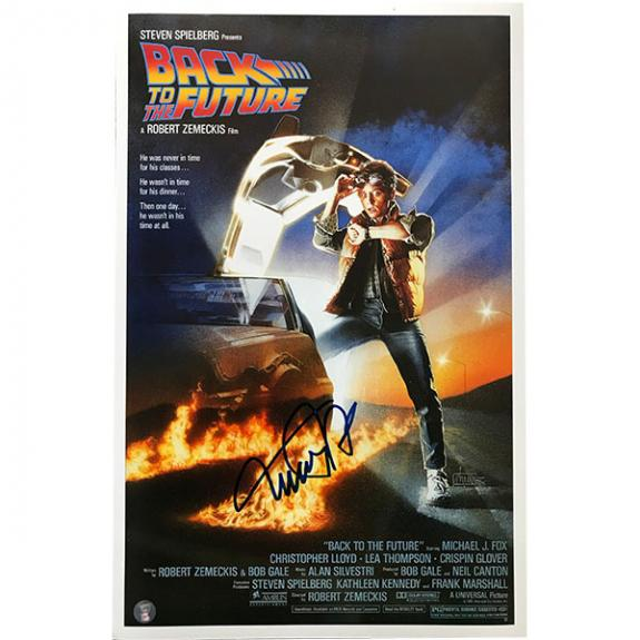 Michael J. Fox Autographed 11X17 'Back to the Future' Movie Poster Reprint