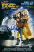 """Michael J. Fox Autographed 12"""" x 18"""" Back to The Future II Movie Poster - PSA/DNA"""