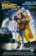 "Michael J. Fox Autographed 12"" x 18"" Back to The Future II Movie Poster - PSA/DNA"