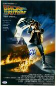 """Michael J. Fox Autographed 12"""" x 18"""" Back to the Future Movie Poster - PSA/DNA"""