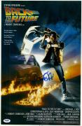 "Michael J. Fox Autographed 12"" x 18"" Back to the Future Movie Poster - PSA/DNA"