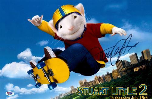 "Michael J Fox Autographed 12"" x 18"" Stuart Little 2 Movie Poster - Beckett COA"