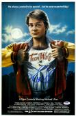 "Michael J. Fox Autographed 12"" x 18"" Teen Wolf Movie Poster - PSA/DNA"