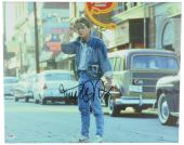 """Michael J Fox Autographed 16""""x 20"""" Back to the Future Wearing Sunglasses Stretched Canvas - BAS COA"""