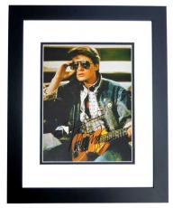 Michael J Fox Autographed BACK TO THE FUTURE 11x14 Photo BLACK CUSTOM FRAME - Marty McFly