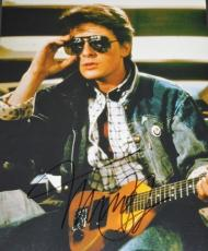 Michael J Fox Autographed BACK TO THE FUTURE 11x14 Photo - Marty McFly