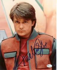"Michael J. Fox Autographed ""Back to the Future"" 8x10 Photo"