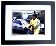 Michael J. Fox Autographed Back to the Future 8x10 Photo BLACK CUSTOM FRAME