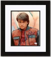 "Michael J. Fox Autographed ""Back to the Future"" 8x10 Photo BLACK CUSTOM FRAME"