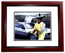 Michael J. Fox Autographed Back to the Future 8x10 Photo MAHOGANY CUSTOM FRAME