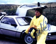 Michael J. Fox Autographed Back to the Future 8x10 Photo